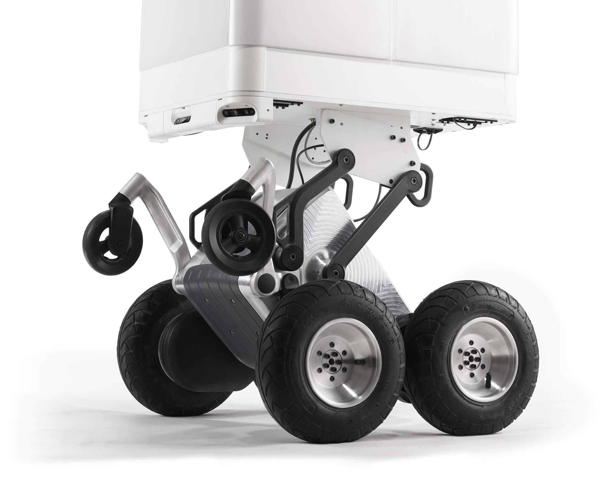Intelligent wheel system by DEKA allows delivery bot to traverse any terrain.